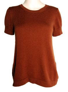 Brown cashmere/cotton blend sweater tee.  Size small.  By APC.