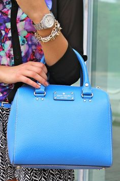 Pop Of Kate Spade Blue Via @k8 Bailey  Love This Color, And The Pattern Mixing