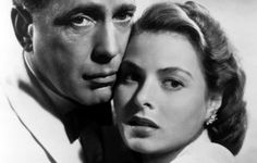 Richard Blaine (Humphrey Bogart) e Ilsa Lund Laszlo (Ingrid Bergman), de Casablanca (1942): quem liga se ela usa sobretudo em pleno Marrocos? O amor impossível, a despedida, a música tema, tudo envolve a quem assiste a este clássico. Foto: Divulgação