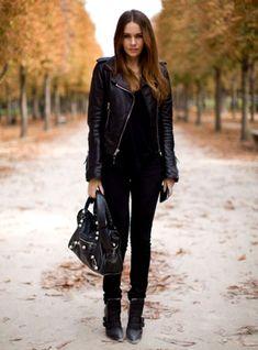 Shop this look on Lookastic:  https://lookastic.com/women/looks/biker-jacket-tank-skinny-jeans-ankle-boots-tote-bag/6331  — Black Leather Biker Jacket  — Black Tank  — Black Leather Tote Bag  — Black Skinny Jeans  — Black Leather Ankle Boots
