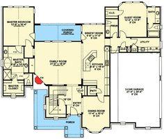 Great main floor-just turn the formal dining room into an office and stick the powder room by the entry.