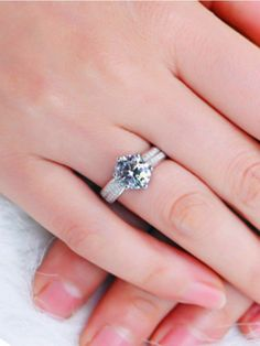 Incandescent Silver Solitaire AD Ring Jewellery #FingerRing