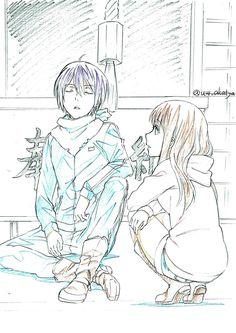 Hiyori x Yato - Noragami ❤️ Yato And Hiyori, Noragami Anime, Fanarts Anime, All Anime, Anime Love, Anime Manga, Anime Art, Itachi, Akatsuki