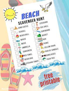 Don't Miss Our #Free Beach Scavenger Hunt Printable   MomsWhoSave.com #printables #beach #kids