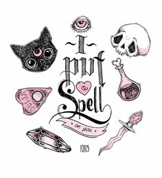 ✭ I Put a Spell on You ✭ Art Print omg all the cute! I need this as a tattoo