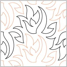 """Bayside Quilting: Caliente 10""""<br>Looser Pantograph"""