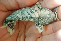 Fish Money Origami Dollar Bill Origami Fish Easy Fast And Simple How To Fold Fish Out Of Fish Money Origami Dollar Origami Fish For Tipping Fave Mom. Fish Money Origami Money Gift Idea Making A Dollar Origami Fish Tank. Origami Koi Fish, Origami 3d, Origami Paper, Origami Books, Origami Ideas, Origami Jewelry, Origami Folding, Origami Design, Folding Money