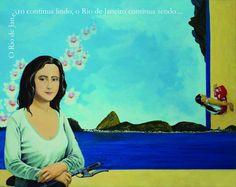 """Rio de Janeiro, internacional e atemporal, 2010 Maria Helena Hofmann (Brasil, 1963) acrílica sobre tela, 80 x 100 cm Exposição """"A Cara do Rio: da minha janela"""", 2010"""
