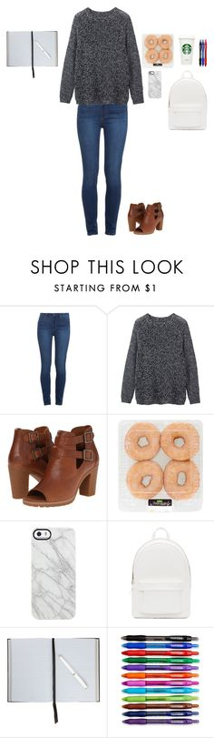 """""""Working in the office on some ideas"""" by lauryn-11 ❤ liked on Polyvore featuring Paige Denim, Toast, Timberland, Uncommon, PB 0110, Smythson and Paper Mate"""