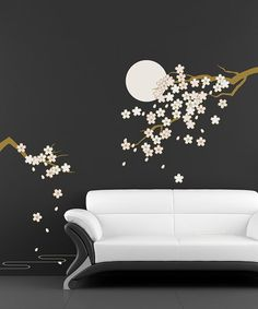 Loving this Cherry Blossom Under Moonlight Wall Decal Set on #zulily! #zulilyfinds