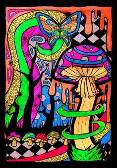Shroom Art | shroom by tallis traditional art drawings psychedelic 2010 2013 tallis ...