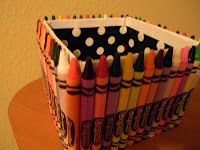 A place to store broken crayons for future uses. ~ Love it  Simply 2nd Resources: Crayola Box - (Can I say addicted to Pinterest? Yes!)