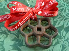 Salvage Hose-Bib Handle Ornament