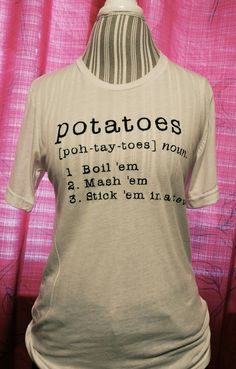 Lord of the Rings Potatoes T-Shirt by NerdGirlCo on Etsy