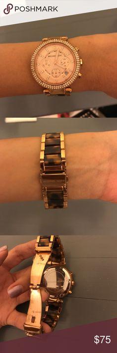 7359abc629c Michael Kors Watch Beautiful rose gold & tortoise Watch. Amazing condition,  hardly worn.