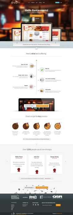 eHungry redesign by Boyan Kostov