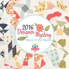 2016 Designer Mystery Block of the Month with Fat Quarter Shop - Fat Quarter Shop's Jolly Jabber Quilt Kits, Quilt Blocks, Sewing Crafts, Diy Crafts, Block Of The Month, Fat Quarter Shop, Fat Quarters, Quilt Patterns, Mystery
