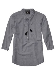 Cute Tunic Top With Shirt Collar > Womens Clothing > Tops & T-shirts at Maison Scotch
