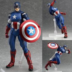 Figma 226 Captain America The Avengers Anime Action Figure Max Factory Japan Now available at Figure Central (^o^)