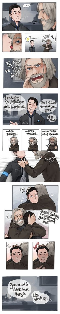 Connor is precious and I love him. <3 Even Hank can't be grumpy....for long.