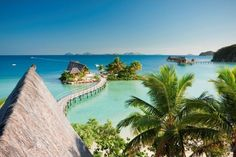 Picture your dream Fiji honeymoon, does your mind drift to an overwater bungalow and tropical paradise? Likuliku lagoon resort is the perfect honeymoon stay Holiday Destinations, Vacation Destinations, Dream Vacations, Vacation Spots, Vacation Resorts, Fiji Hotels, Hotels And Resorts, Luxury Hotels, Places Around The World