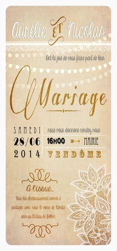 Faire-part mariage Country chic | Les Faire-parts d'Eugénie
