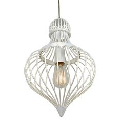 Love this...Clout 1 Light Pendant Pearl