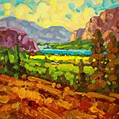 Paintings by Ken Gillespie -Winery and Vineyard paintings- located near Vernon…