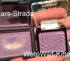 Nars eyeshadow dupe. WetnWild in Kitten. Lilac shade with gold sheen.