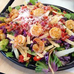 Nothing to look at here.... #shrimp #shrimplover #salad #bajafresh Healthy Meals, Healthy Recipes, Restaurant Kitchen, Shrimp Salad, Cobb Salad, Salads, Fresh, Food, Clean Eating