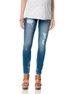 b4fd971114769 True Religion // A Pea in the Pod // Secret Fit Belly 5 Pocket Skinny Leg  Maternity Jeans