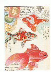 ミッシェルデザインワークスの珍しい金魚柄のミニカード