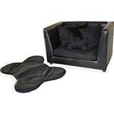 Deluxe Orthopedic Memory Foam Dog Sofa Bed, Medium, Black