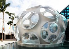 buckminster fuller's fly's eye dome recreated in miami design district - designboom | architecture