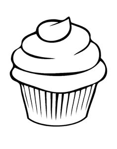 Pretty Cupcake Coloring Pages
