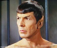 """Patterns of Force"" s2 e21 Star Trek TOS 1968 Leonard Nimoy Spock shirtless First Officer Nims"