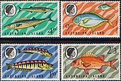 Ascension Island 1970 Fish Set Fine Mint SG 126/9w Scott 130/3 Other West Indies and British Commonwealth Stamps HERE!