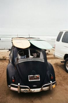 volkswagen beetle, beach and surf Vw Beach, Beach Bum, Beach Road, Sand Beach, Beach Trip, Vw Modelle, Van Vw, Vw Camping, Kdf Wagen
