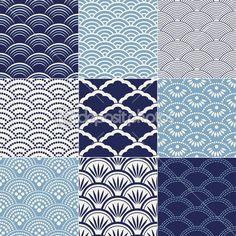 Japanese seamless ocean wave pattern — Stock Illustration #18403255