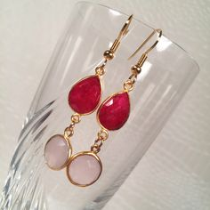 A personal favorite from my Etsy shop https://www.etsy.com/listing/220591990/sweet-sentiment-ruby-and-rose-quartz