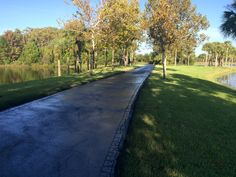 Recent #Sealcoating Job by the ABC Team! #JoggingPath #WalkWay #Asphalt #PropertyMaintenance #ABCPaveandSeal