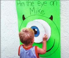 Click the pin for fun ideas for a Monsters Inc. party from our Just Kidding Around Tab!