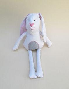 Bunny. Kids stuffed rag bunny. Stuffed bunny. by ThePaperNeedle
