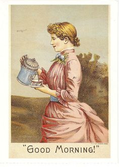 Tea woman art postcard - by paflip25, via Flickr