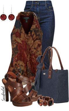 LOLO Moda: Classy womens fashion by kathryn.benkow LOLO Moda: Classy womens fashion by kathryn. Style Outfits, Mode Outfits, Classy Outfits, Beautiful Outfits, Casual Outfits, Fashion Outfits, Womens Fashion, Fashion Trends, Denim Outfits