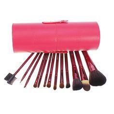 13 PCS Blush em pó de cabra Cabelos Maquiagem Pincel Brushes Set Cosmética com capa de – BRL R$ 62,47