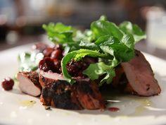 Grilled Pork Tenderloin with Mustard Fruit from CookingChannelTV.com