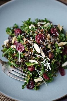 Kale Cranberry and Breadcrumb Salad