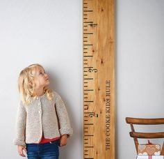 ruler growth chart that's fun and adorable
