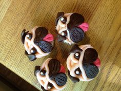 Pug cupcakes for birthday party